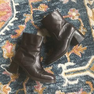 Vintage | chunky leather boots